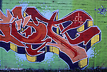 Europe, DEU, Germany, Northrhine Westphalia, Ruhr district, Ruhr area, Graffiti, Wall painting