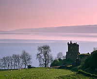Urquhart Castle, built in the 14th century, destroyed at the end of the 17th century, Strone Point on the north-western shore of Loch Ness, Inverness-shire, Highlands, Scotland, United Kingdom, Europe