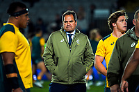 Wallabies head coach Dave Rennie during the Bledisloe Cup rugby match between the New Zealand All Blacks and Australia Wallabies at Eden Park in Auckland, New Zealand on Saturday, 7 August 2021. Photo: Dave Lintott / lintottphoto.co.nz
