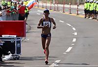 BARRANQUILLA - COLOMBIA, 03-08-2018: ORJUELA SOCHE Angie Rocio (Colombia) ganadorea de la medalla de bronce en su participación en maratón femenina como parte de los Juegos Centroamericanos y del Caribe Barranquilla 2018. /  ORJUELA SOCHE Angie Rocio (Colombia) winner of the bronze medal in her participation in women's marathon of the Central American and Caribbean Sports Games Barranquilla 2018. Photo: VizzorImage /  Cont