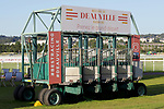 August 15, 2021, Deauville (France) - Starting Gate used at Deauville Racecourse. [Copyright (c) Sandra Scherning/Eclipse Sportswire)]