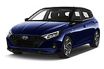 2021 Hyundai I20 Sky 5 Door Hatchback Angular Front automotive stock photos of front three quarter view