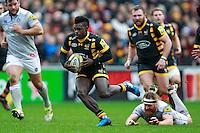 Photo: Ian Smith/Richard Lane Photography. Wasps v Bath Rugby. Aviva Premiership. 24/12/2016. Wasps' Christian Wade in action.