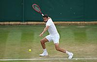 1st July 2021; Wimbledon, SW London. England; Wimbledon Tennis Championships, day 4;  Marin Cilic , Croatia