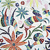 Otomi, a jewel glass mosaic, shown in Absolute White, Peridot, Aventurine, Lapis Lazuli, Sardonyx, Citrine, and Ruby, is part of the Kiddo™ Collection by Cean Irminger for New Ravenna.