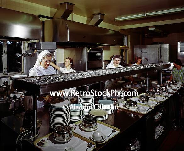 Women in the nursing home kitchen.