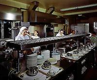 Women in the nursing home kitchen.