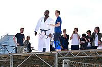 Teddy RINER, Andy MURRAY - Grande Arche de la Defense - 24/5/2017 - Paris - France - TEDDY RINER ET ANDY MURRAY REUNIS PAR L' EQUIPEMENTIER UNDER ARMOUR