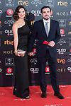 Anna Ruiz and Alberto Garzon attends red carpet of Goya Cinema Awards 2018 at Madrid Marriott Auditorium in Madrid , Spain. February 03, 2018. (ALTERPHOTOS/Borja B.Hojas)