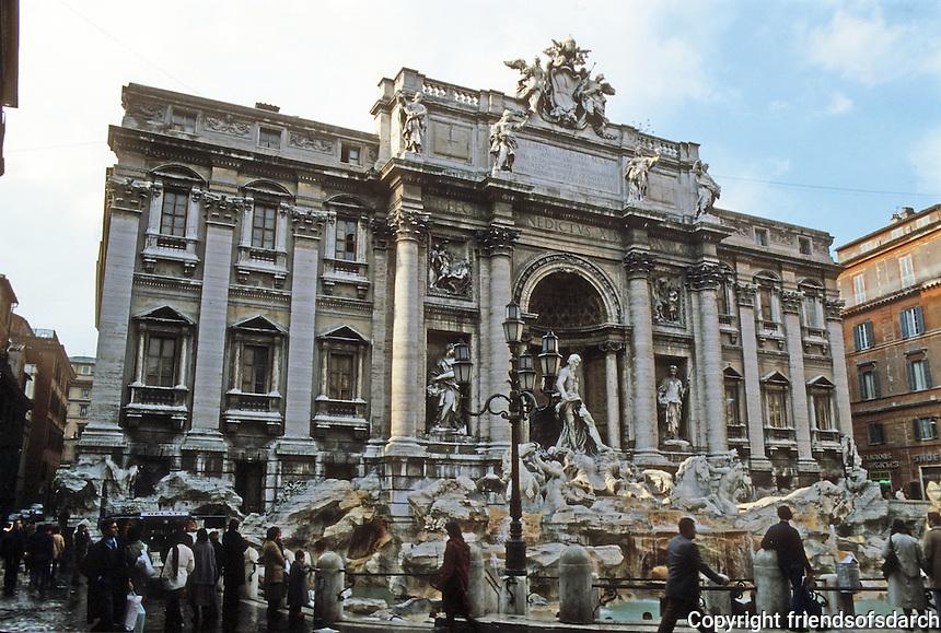 Italy: Rome--Trevi Fountain, 18th C.  Photo '82.