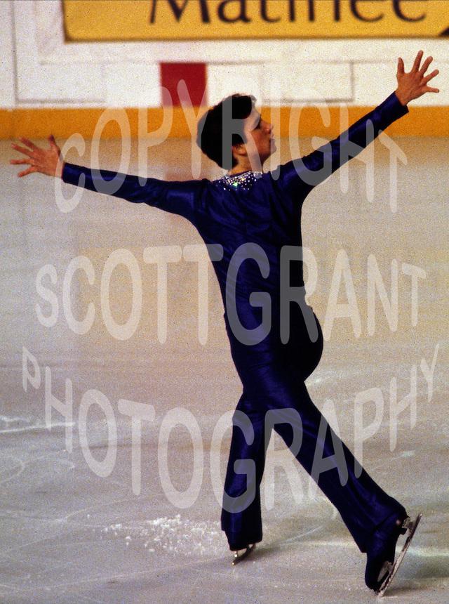 Brian Boitano USA figure skater competes at the 1980 Skate Canada in Ottawa, Canada. Photo copyright Scott Grant.