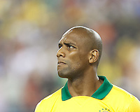 Brazil defender Maicon (15). In an international friendly, Brazil (yellow/blue) defeated Portugal (red), 3-1, at Gillette Stadium on September 10, 2013.