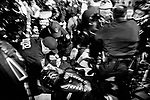 NEW YORK, NY — OCTOBER 27, 2020:  NYPD police officers arrest demonstrators protesting against police brutality, in response to the shooting of Walter Wallace Jr. by Philadelphia police officers the prior day, across from City Hall on October 27, 2020 in New York City.  The confrontation, recorded on a now viral video posted to social media, shows Wallace, a 27 year-old Black man who family members said was in the midst of a mental health crisis, holding a knife as two police officers shot and killed him.  Photograph by Michael Nagle