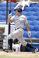 July 12, 2009:  Third Baseman Brandon Laird of the Tampa Yankees during a game at Dunedin Stadium in Dunedin, FL.  Tampa is the Florida State League High-A affiliate of the New York Yankees.  Photo By Mike Janes/Four Seam Images