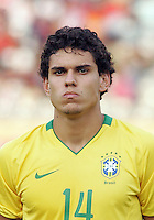 Brazil's Fabrico (14) stands on the field before the match against Germany during the FIFA Under 20 World Cup Quarter-final match at the Cairo International Stadium in Cairo, Egypt, on October 10, 2009. Germany lost 2-1 in overtime play.