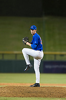 AZL Cubs relief pitcher Rollie Lacy (51) delivers a pitch to the plate against the AZL Mariners on August 4, 2017 at Sloan Park in Mesa, Arizona. AZL Cubs defeated the AZL Mariners 5-3. (Zachary Lucy/Four Seam Images)