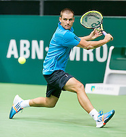 11-02-14, Netherlands,Rotterdam,Ahoy, ABNAMROWTT,and Mikhail Youzhny(RUS)<br /> Photo:Tennisimages/Henk Koster