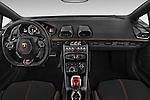 Stock photo of straight dashboard view of 2017 Lamborghini Huracan LP 6104 2 Door Coupe Dashboard