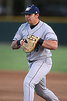 March 13, 2010:  First Baseman Bryan White (16) of the Akron Zips vs. the Yale Bulldogs in a game at Henley Field in Lakeland, FL.  Photo By Mike Janes/Four Seam Images