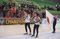 SPEEDSKATING: HAMAR: Vikingskipet, 29-02-2020, ISU World Speed Skating Championships, Sprint, World Champions, Tatsuya Shinhama (JPN), Miho Takagi (JPN), ©photo Martin de Jong