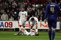 Pictured: Leon Britton (centre) of Swansea City<br /> Re: Coca Cola Championship, Swansea City Football Club v Birmingham City at the Liberty Stadium, Swansea, south Wales Friday 21 November 2008.<br /> Picture by D Legakis Photography (Athena Picture Agency), Swansea, 07815441513