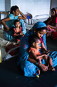 Malnourished children with their mothers are seen at the Nutrition Rehabilitation Centre (NRC) in Khaknar block of Burhanpur district in Madhya Pradesh, India. Photo: Sanjit Das/Panos for ACF
