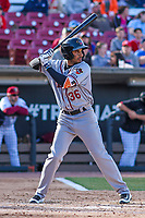 Quad Cities River Bandits infielder Anibal Sierra (36) at the plate.during a Midwest League game against the Wisconsin Timber Rattlers on April 8, 2017 at Fox Cities Stadium in Appleton, Wisconsin.  Wisconsin defeated Quad Cities 3-2. (Brad Krause/Four Seam Images)