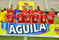 BARRANCABERMEJA- COLOMBIA - 27 - 05 -2016: Los jugadores de Fortaleza FC, posan para una foto, durante partido Alianza Petrolera y Fortaleza FC, por la fecha 0 por la Liga Aguila I 2016 en el estadio Daniel Villa Zapata en la ciudad de Barrancabermeja. The players of Fortaleza FC, pose for a photo, during a match between Alianza Petrolera and Fortaleza FC, for date 20 of the Liga Aguila I 2016 at the Daniel Villa Zapata stadium in Barrancabermeja city. Photo: VizzorImage  / Jose D Martinez / Cont.