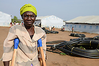 UGANDA, Arua, Yumbe, south sudanese refugees in Bidi Bidi refugee settlement / suedsudanesische Fluechtlinge im Fluechtlingslager Bidi Bidi, Rebecca Nyanci