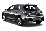 Car pictures of rear three quarter view of 2021 Toyota Corolla-Hatchback SE 5 Door Hatchback Angular Rear