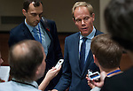 UK Permanent Representatives to the United Nations Ambassador Matthew Rycroft speaking to the press