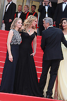 DIRECTOR JODIE FOSTER, JULIA ROBERTS, GEORGE CLOONEY AND HIS WIFE AMAL - RED CARPET OF THE FILM 'MONEY MONSTER' AT THE 69TH FESTIVAL OF CANNES 2016
