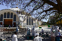 ETHIOPIA , Tigray, Axum, orthodox Church of Our Lady Mary of Zion , built during time of emperor Haile Selassie  / AETHIOPIEN, Tigray, Aksum, orthodoxe Kirche der Heiligen Maria von Zion