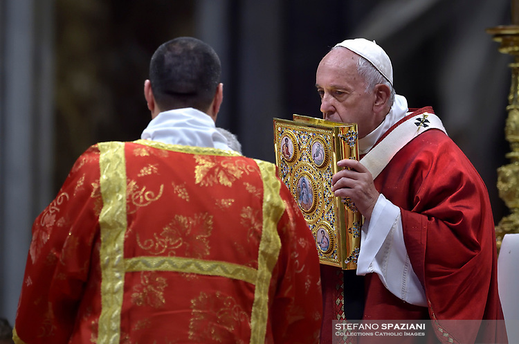 Pope Francis Solemnity of St Peter and Paul in St. Peter Basilica at the Vatican.June 29, 2019.