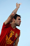 02.07.2012. Cesc Fabregas during Tour of Madrid of the Spanish football team to celebrate their victory in Euro 2012 july 2012.(ALTERPHOTOS/ARNEDO)