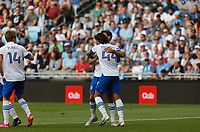 SAINT PAUL, MN - JULY 3: Cade Cowell #44 of the San Jose Earthquakes celebrates a goal during a game between San Jose Earthquakes and Minnesota United FC at Allianz Field on July 3, 2021 in Saint Paul, Minnesota.