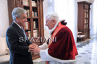 Benedict XVI Chilean President Sebastian Pinera private audience at the Vatican,3 March 2011