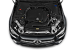Car Stock 2021 Mercedes Benz E-Class AMG-Line 4 Door Convertible Engine  high angle detail view