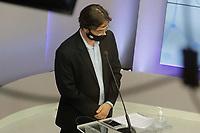 Campinas (SP), 01/10/2020 - Eleições/Debate - Nove candidatos a prefeito de Campinas (SP) se enfrentam nesta quinta-feira (01) no primeiro debate promovido pela Band. Alessandra Ribeiro (PCdoB), André Von Zuben (Cidadania), Artur Orsi (PSD), Dário Saadi (Republicanos), Delegada Teresinha (PTB), Dr. Hélio (PDT), Rafa Zimbaldi (PL), Pedro Tourinho (PT) e Wilson Matos (Patriota) irão apresentar suas propostas e serão confrontados pelos seus adversários. Esse grupo integra os partidos que têm cinco representantes no Congresso Nacional.<br /> Na foto: Pedro Tourinho - PT
