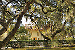 Jekyll Island, GA, Historic district cottage which now houses a gallery.