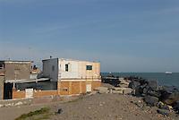 - Lido di Ostia, slums in Idroscalo street....- Lido di Ostia, baraccopoli in via dell'Idroscalo