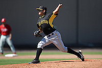 Pittsburgh Pirates pitcher Jovani Lopez (5) during a minor league spring training game against the Philadelphia Phillies on March 18, 2014 at the Carpenter Complex in Clearwater, Florida.  (Mike Janes/Four Seam Images)
