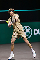 Rotterdam, The Netherlands, 5 march  2021, ABNAMRO World Tennis Tournament, Ahoy,  Quarter final: Andrey Rublev (RUS). Photo: www.tennisimages.com/henkkoster