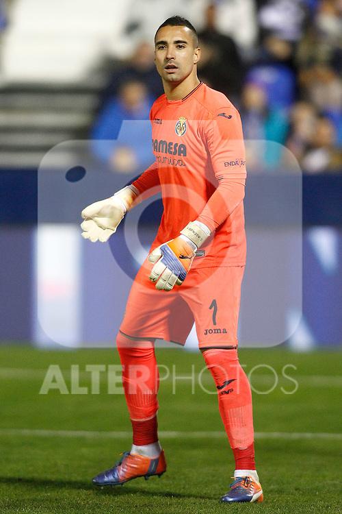 Villarreal CF's Sergio Asenjo during La Liga match. December 3,2016. (ALTERPHOTOS/Acero)