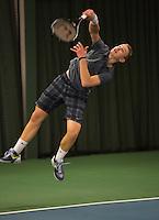 Rotterdam, The Netherlands, 07.03.2014. NOJK ,National Indoor Juniors Championships of 2014, Tom Moonen (NED)<br /> Photo:Tennisimages/Henk Koster