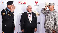 PASADENA, CA, USA - OCTOBER 10: Sergeant Santiago J. Erevia, Rick Leal arrive at the 2014 NCLR ALMA Awards held at the Pasadena Civic Auditorium on October 10, 2014 in Pasadena, California, United States. (Photo by Celebrity Monitor)