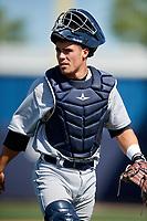 Detroit Tigers Brady Policelli (71) during a Minor League Spring Training game against the New York Yankees on March 21, 2018 at the New York Yankees Minor League Complex in Tampa, Florida.  (Mike Janes/Four Seam Images)