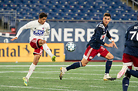FOXBOROUGH, MA - OCTOBER 16: Arturo Rodriguez #10 of North Texas SC passes the ball during a game between North Texas SC and New England Revolution II at Gillette Stadium on October 16, 2020 in Foxborough, Massachusetts.