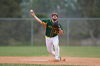 South Vermont Mountaineers shortstop Nick Guajardo (22) during a game against the Edgewood Eagles on March 18, 2019 at Lee County Player Development Complex in Fort Myers, Florida.  South Vermont defeated Edgewood 19-6.  (Mike Janes/Four Seam Images)