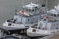 France, Bretagne, (29), Finistère, Brest:  Musée National de la Marine - Château de Brest , vue sur Base Navale et Arsenal de Brest,